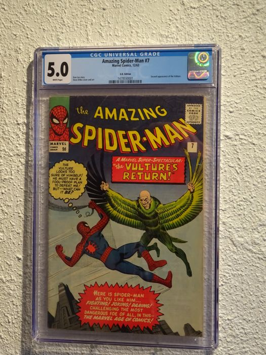 Amazing Spider-Man #7 - Marvel Comics - CGC 5.0 - (1963)