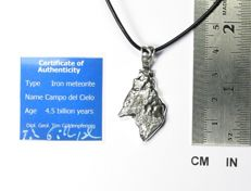 Pendant with meteorite Campo del Cielo / 925 Sterling Silver / new