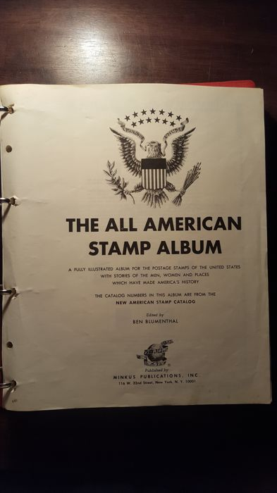 United States of America - collection on Minkus album pages