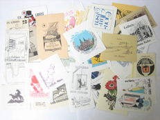 Ex-libris; Lot with 60 Nordic book plates - 2nd half 20th century