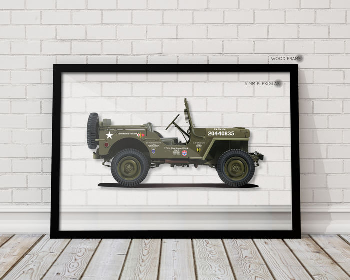 QUAD - Framed Transparent Print Halmo Collection Willys