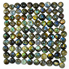 Premium Big Labradorite lot - all color flashes - 940.00 ct - (101 pcs)