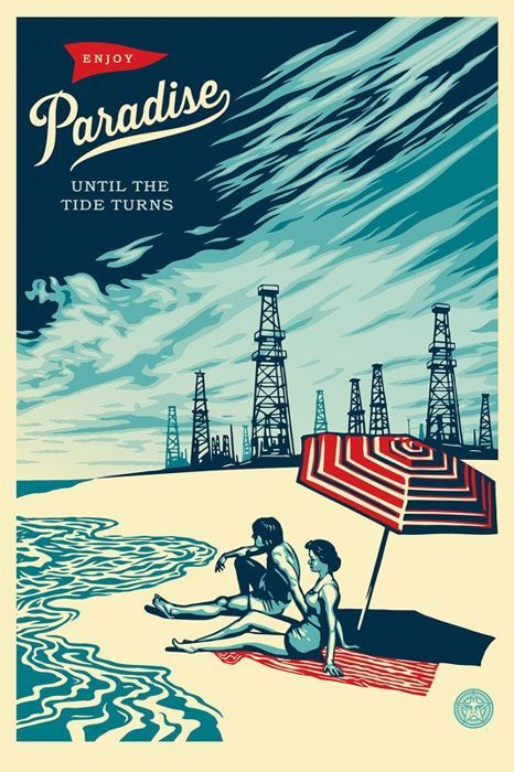 Shepard Fairey (OBEY) - Paradise Until The Tide Turns