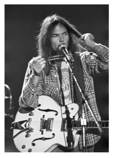 Neil Young – unique photograph live in Ahoy', 1976, number 2 out of 10 plus certificate