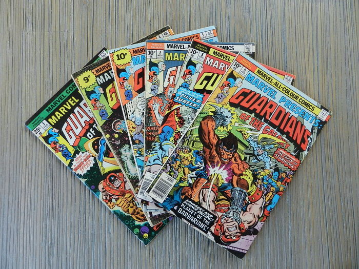 Marvel Presents: Guardians of the Galaxy # 3, 4, 5, 7, 8 & 9 - 6x (1976-1977)