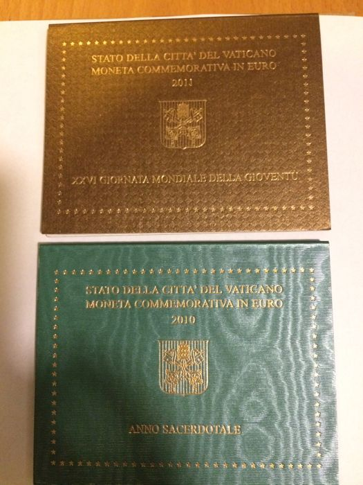Vatican - 2 Euro 2010 'Year of the Priest' + 2 Euro 2011 'World Youth Days'