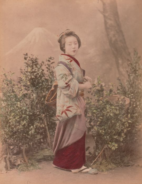 Inconnu (XIX)  - Geisha walking