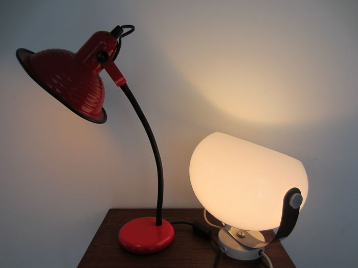 Anvia and Dijkstra - desk lamp and mushroom wall light