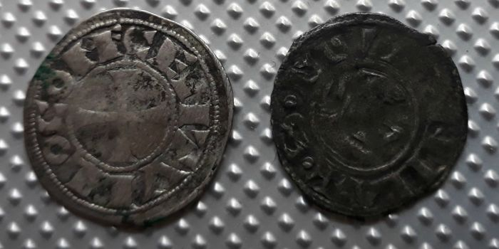 France - Lot of 2 feudal Deniers (Béarn & Vienne) - silver