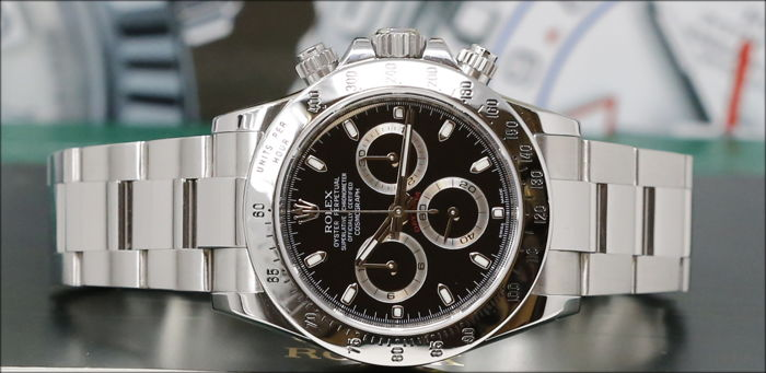 rolex daytona 116520 uomo herren 2000 2010. Black Bedroom Furniture Sets. Home Design Ideas