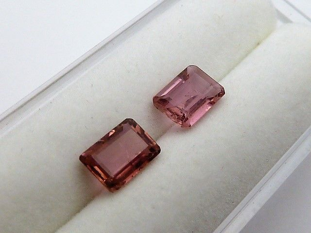 Pair of rubellite tourmalines -1.63 ct - *No reserve price*