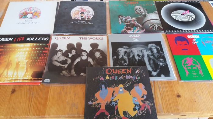 Queen , lot of 9 LP Albums