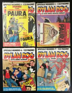 Dylan Dog - 4x Specials nos. 4, 5, 6, 7 - in blister packaging + inserts (1990-93)