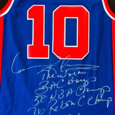 Dennis Rodman #10 / Pistons - Authentic & Original Signed Home Jersey - with Certificate of Authenticity & Photo Proof
