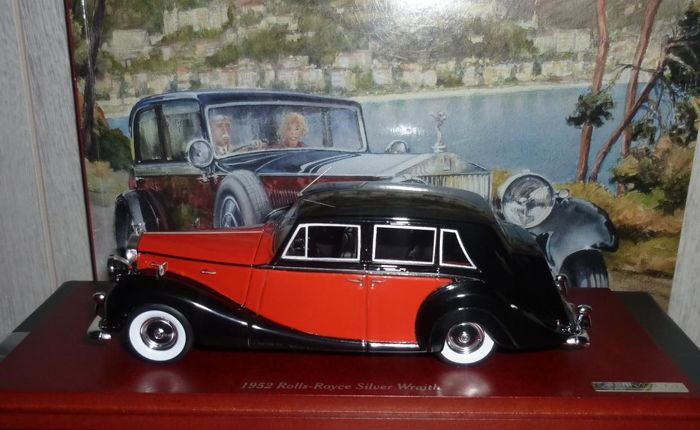 True Scale Miniatures - Scale 1/43 - Rolls Royce Silver Wraith by Hooper - Red / Black