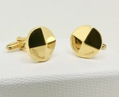 Signed & made by ST.Dupont Paris rare vintage 18kt gold plated cuff links, no reserve