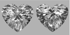 Pair of Heart Shape Diamonds 1.01 ct total Weight  DVS2/DVS1   GIA - Low Reserve Price - #J321-363