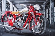 Print on canvas - Jawa 350 ohv
