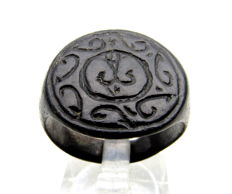 Early Medieval Viking Era Bronze Warrior's Ring with Runic Script on Bezel - 20 mm