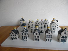 13 Delft Blue KLM houses given out in Business Class - Bols / full