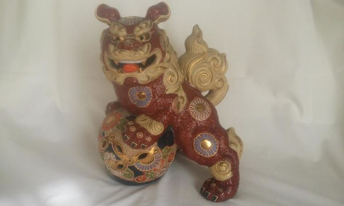 Kutani Shishi lion Guardian - Japan - Second half of the 20th century