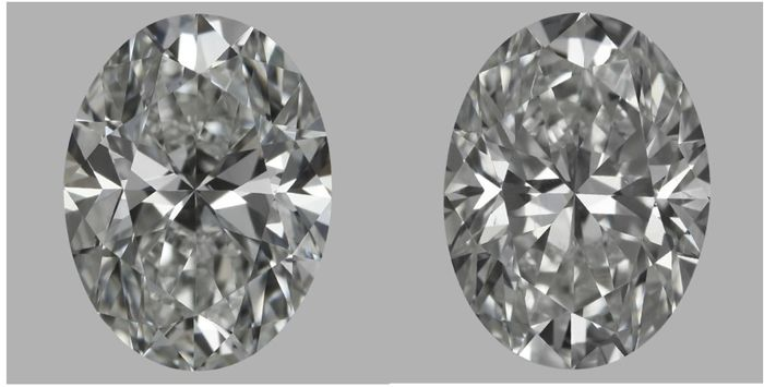 Pair of Oval Shape Diamonds 2.02 ct total Weight G VS2   GIA - Low Reserve Price - #J770-853