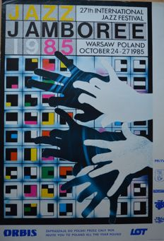 Poster for the Jazz Janboree in Warsaw, Poland  -  1985