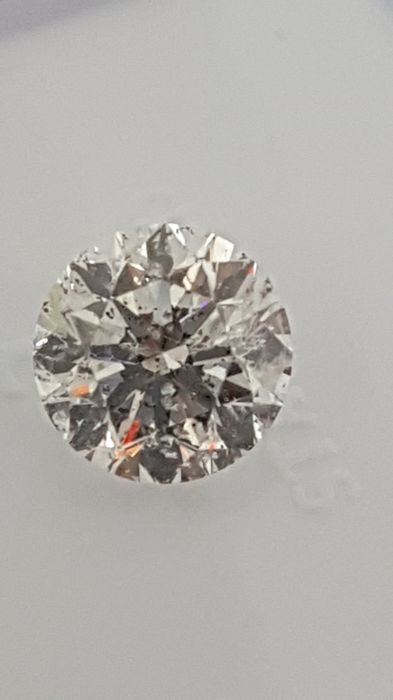 1.01 ct - Round Brilliant - White - D / SI1