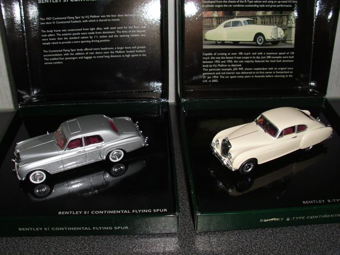 Minichamps - Scale 1/43 - Bentley R Type Continental & S1 Flying Spur