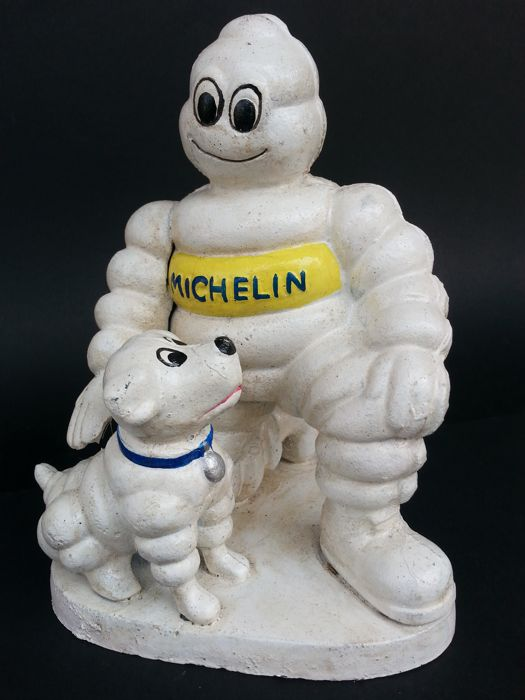 Vintage Michelin Man (Bibendum) With His Michelin Dog