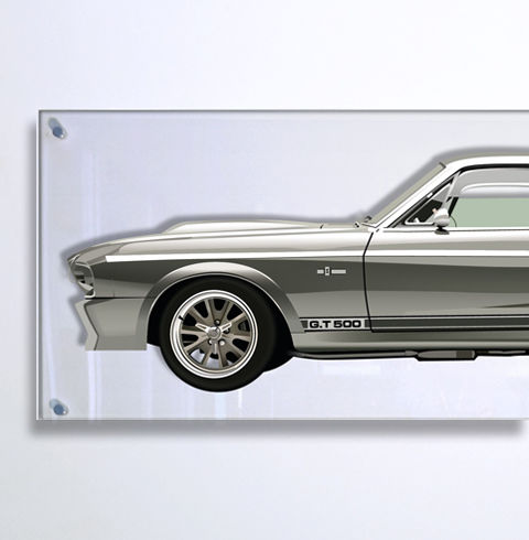 TL - Halmo Collection Shelby GT500 Eleanor Plexiglass Panel