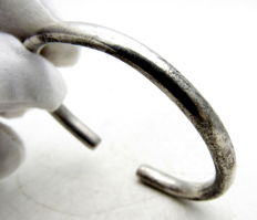 "Medieval - Viking Era Silver Bracelet ""arm ring""  - 50mm"