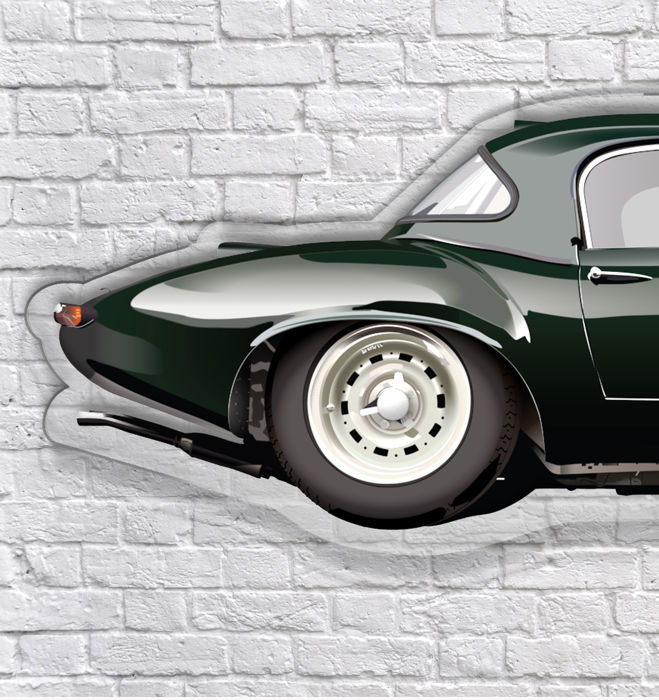 SL - Wall Scale Model Halmo Collection Jaguar E Alloy