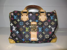 Louis Vuitton - Speedy 30 black monogram multicolore Handtas