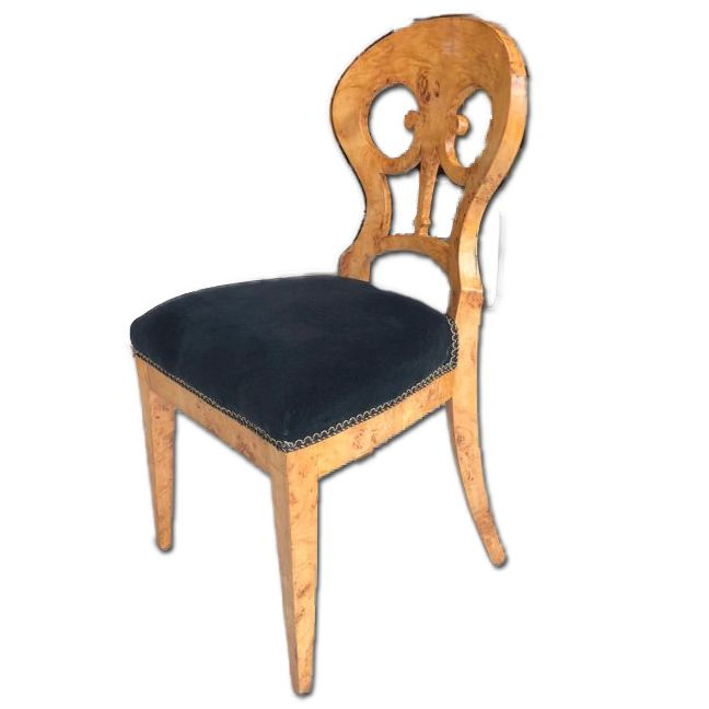 Biedermeier Chair   Birch Wood   Northern Europe   Ca. 1850