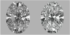 Pair of Oval Shape Diamonds 1.01 ct total Weight  EVS1/DVS1   GIA - Low Reserve Price - #J956-228