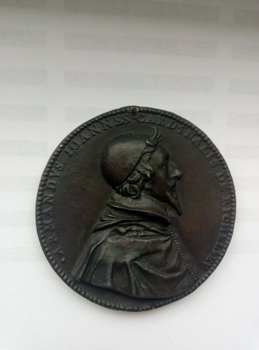France - Medal 'Cardinal de Richelieu 1630' by J. Warin - Bronze