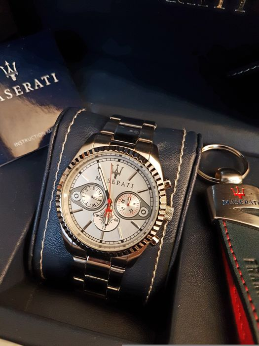 Masarati Competizione Chronograph and keychains