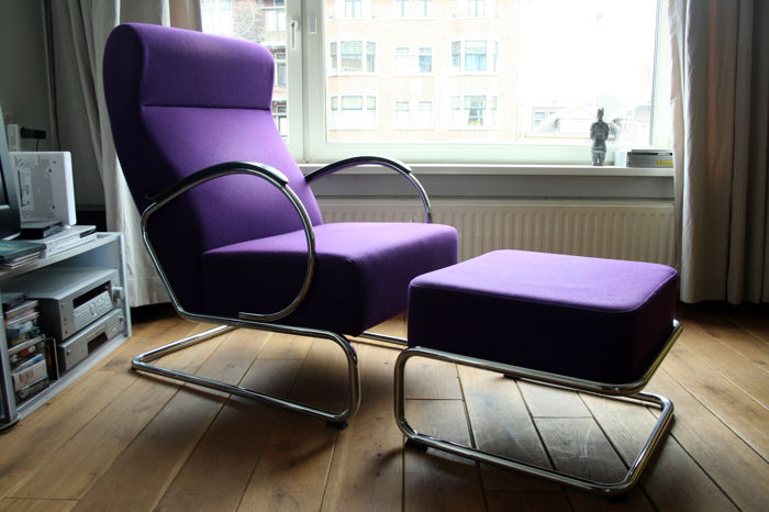 Gispen 423 Fauteuil.W H Gispen Door Dutch Originals Fauteuil 423 Hocker 443 Catawiki