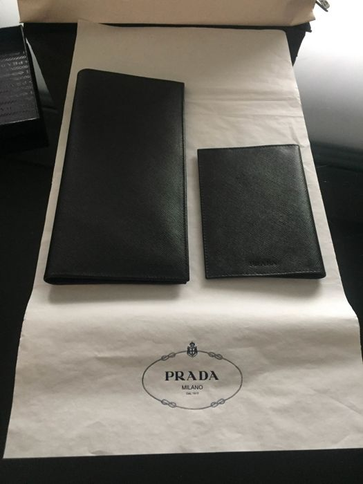 Prada travel set , porte passport and porte flight ticket