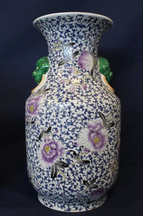 Three Floral Chinese Vases China Second Half 20th Century Catawiki