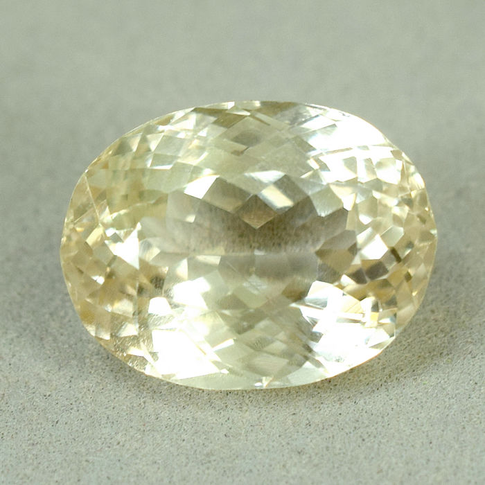 Yellow Hiddenite - 19.19 ct, No Reserve Price