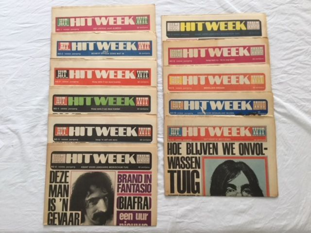 Hitweek :Music related hippie magazine from '68-'69 : including 21 issues