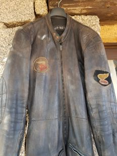 Vintage Motorcycle leather suit and boots