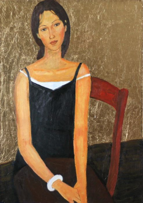 Edward Rychter  - Girl in chair