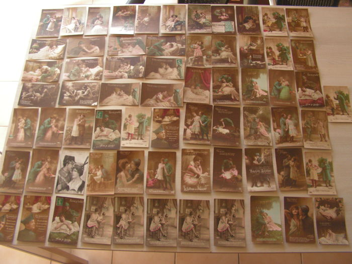 Lot number 4 of 67 postcards about the French soldiers in WWI 1914-1918