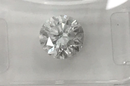 1.61ct  Round Brilliant-Cut  Diamond Natural  color D SI3
