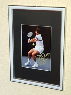 Jimmy Connors - Wimbledon Legend - hand signed  framed photo + COA