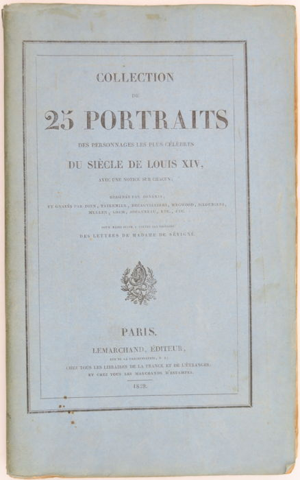 Deveria - Collection de 25 portraits... Louis XIV - 1829