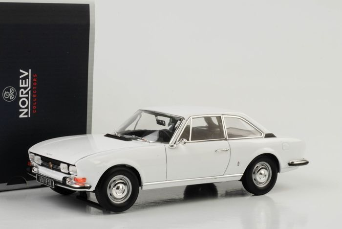 Arosa Catawiki 118 White Peugeot Coupe Norev 504 1969 Scale OPkXuTiZ